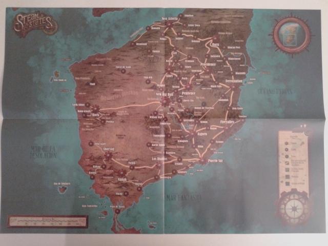 El mapa, tamaño A2, desplegado.