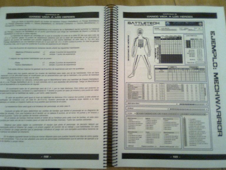 Más páginas del manual.